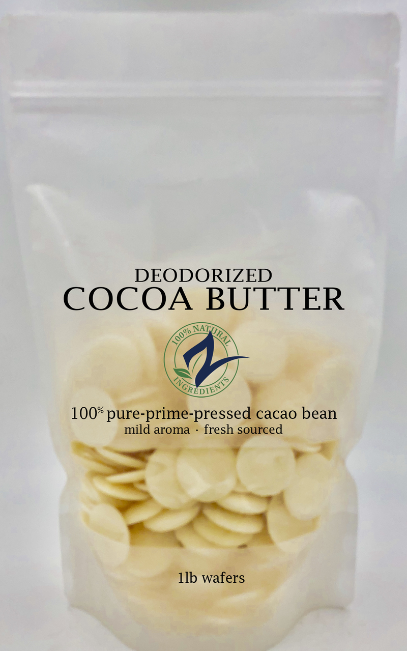 Deodorized Cocoa Butter 1lb | Handcrafted butter | Slay Fitness Store